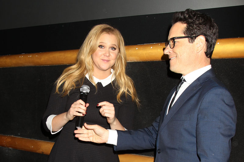 Amy Schumer and J.J. Abrams