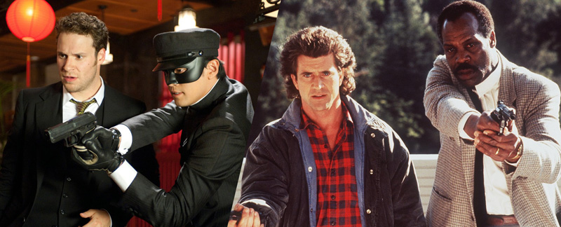 THE GREEN HORNET (2011) and LETHAL WEAPON (1987)