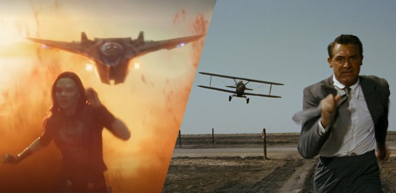 GUARDIANS OF THE GALAXY VOL. 2 (2017) and NORTH BY NORTHWEST (1959)