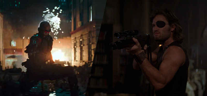 SUICIDE SQUAD (2016) and ESCAPE FROM NEW YORK (1981)