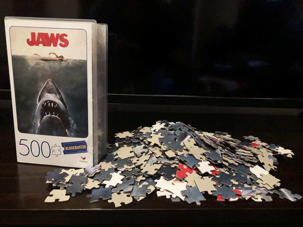 500 Piece Jaws VHS Box Puzzle