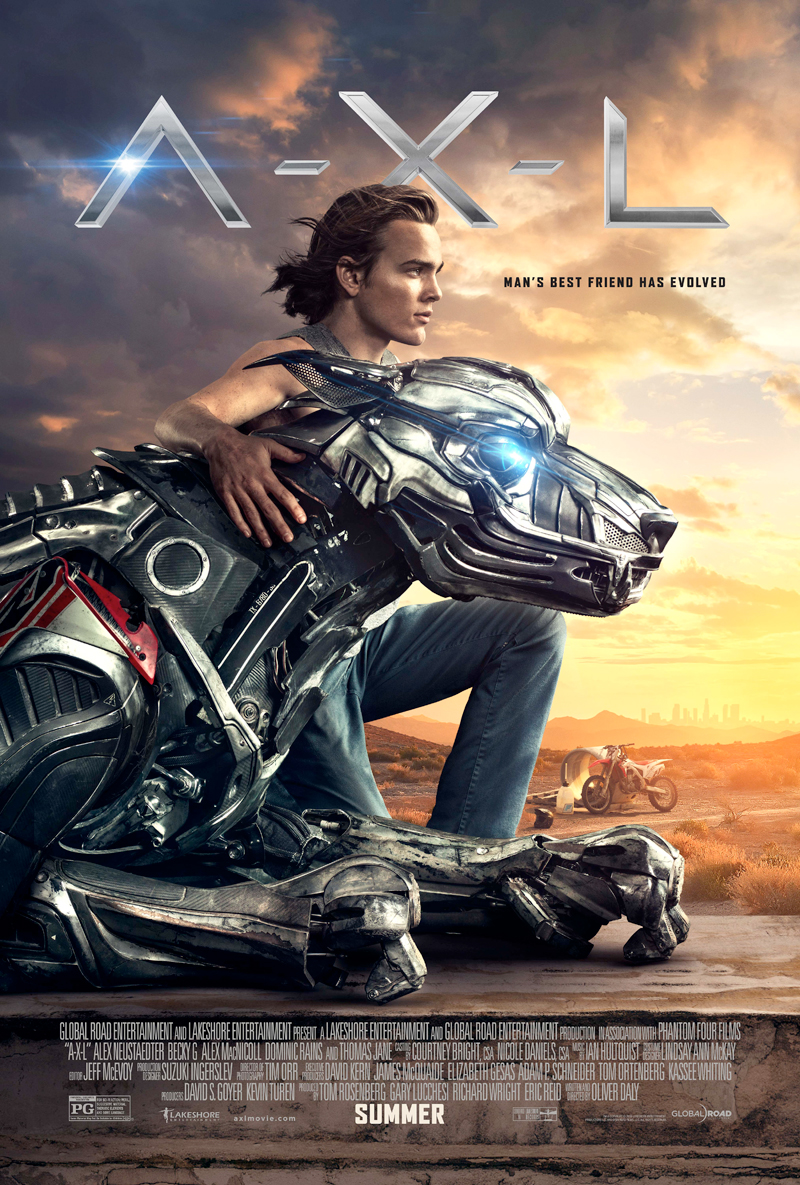 Man's Best Friend Has Evolved in the A.X.L. Poster