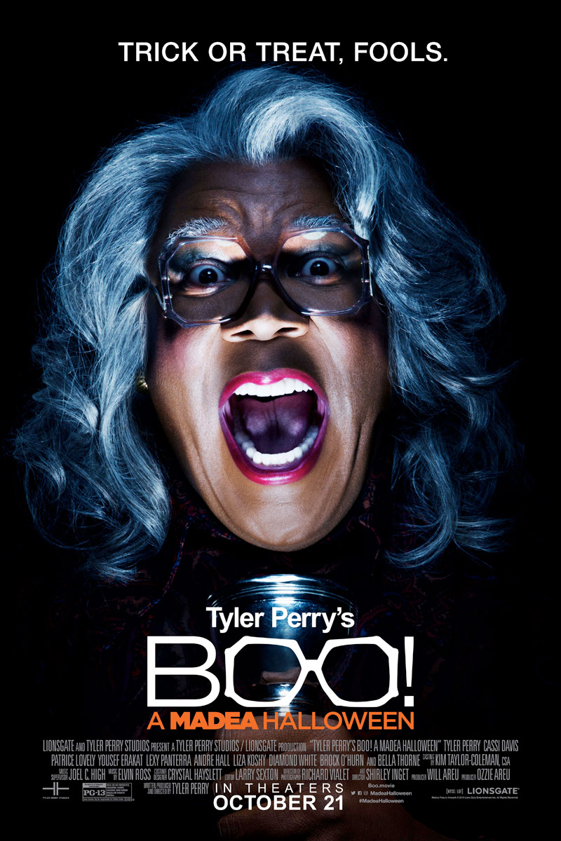 Exorsister in the New Boo! A Madea Halloween Poster!