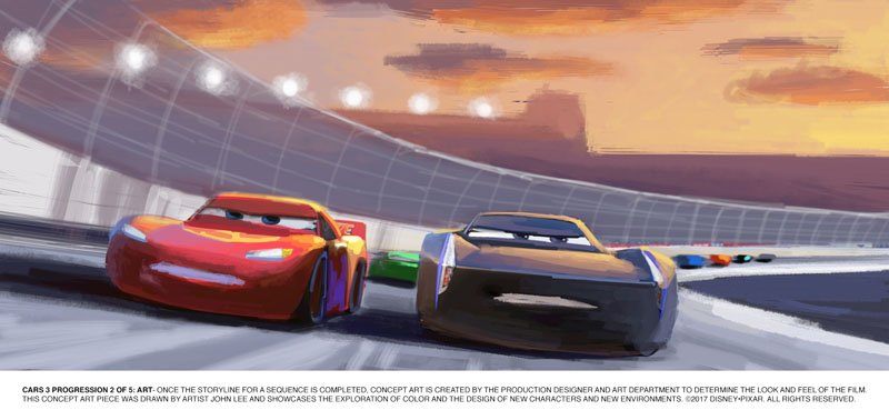 Jackson Storm Beats Lightning Mcqueen In New Cars 3 Trailer Blogs