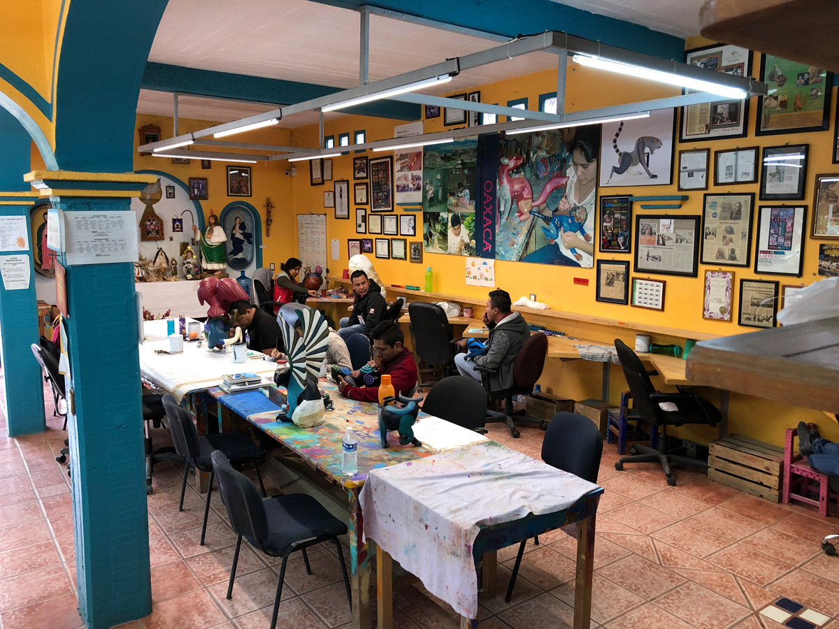 Jacobo and Maria Angeles Workshop & Alebrijes Crafts