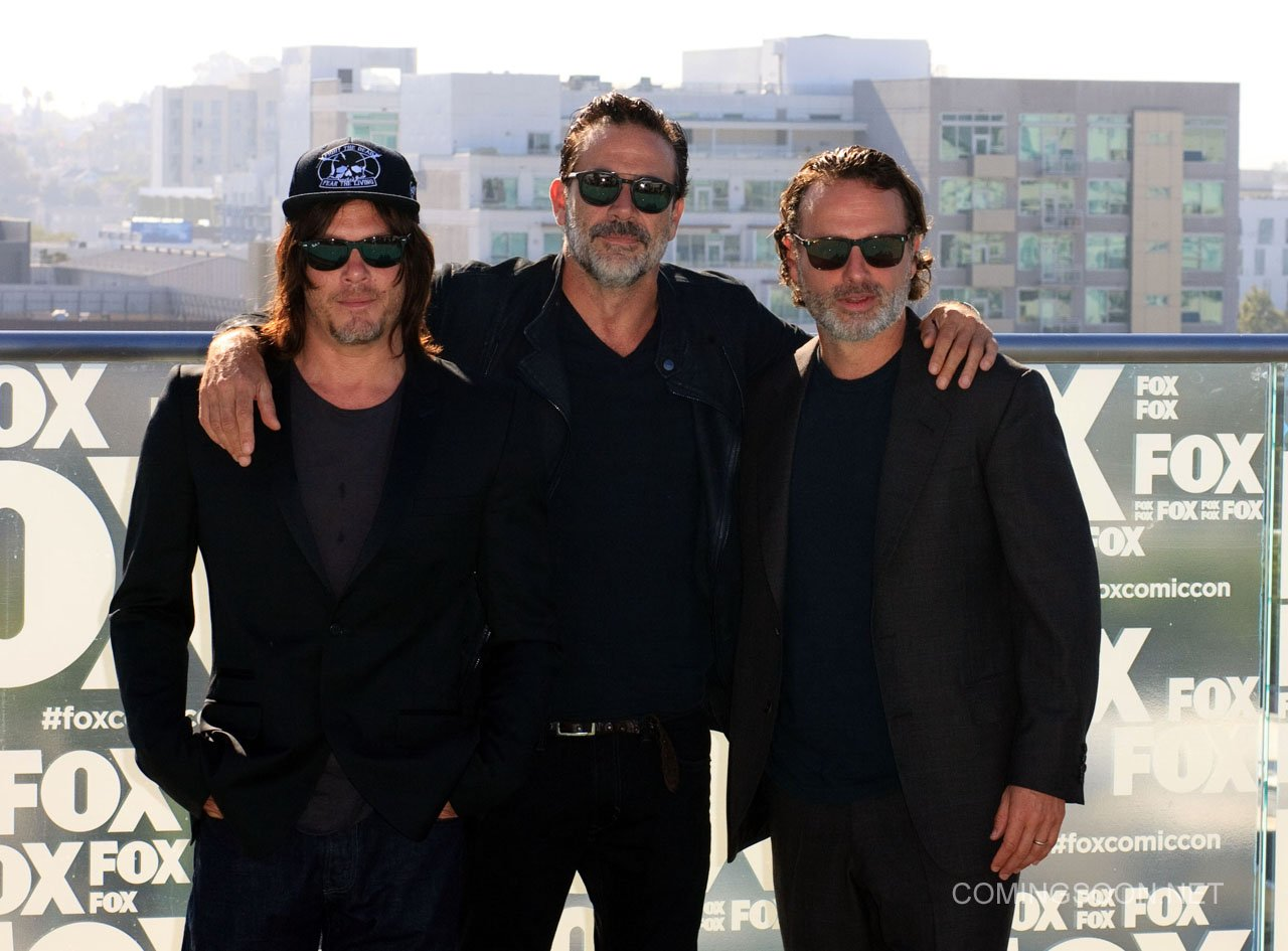 Fox Comic Con breakfast with the cast of Walking Dead and Outcast Featuring: Norman Reedus, Jeffery Dean morgan, Andrew Lincon Where: San Diego, California, United States When: 22 Jul 2016 Credit: Tony Forte/WENN