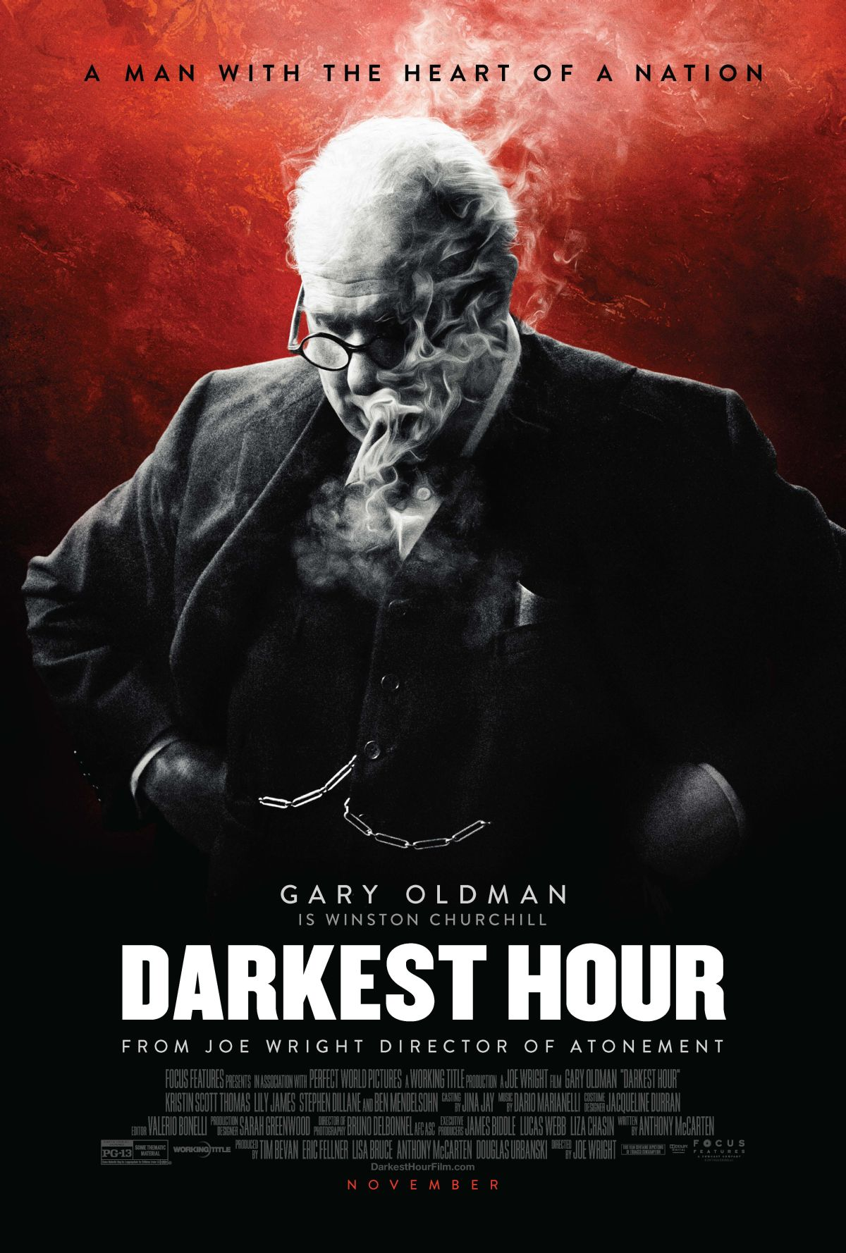 The New Darkest Hour Poster Featuring Gary Oldman as