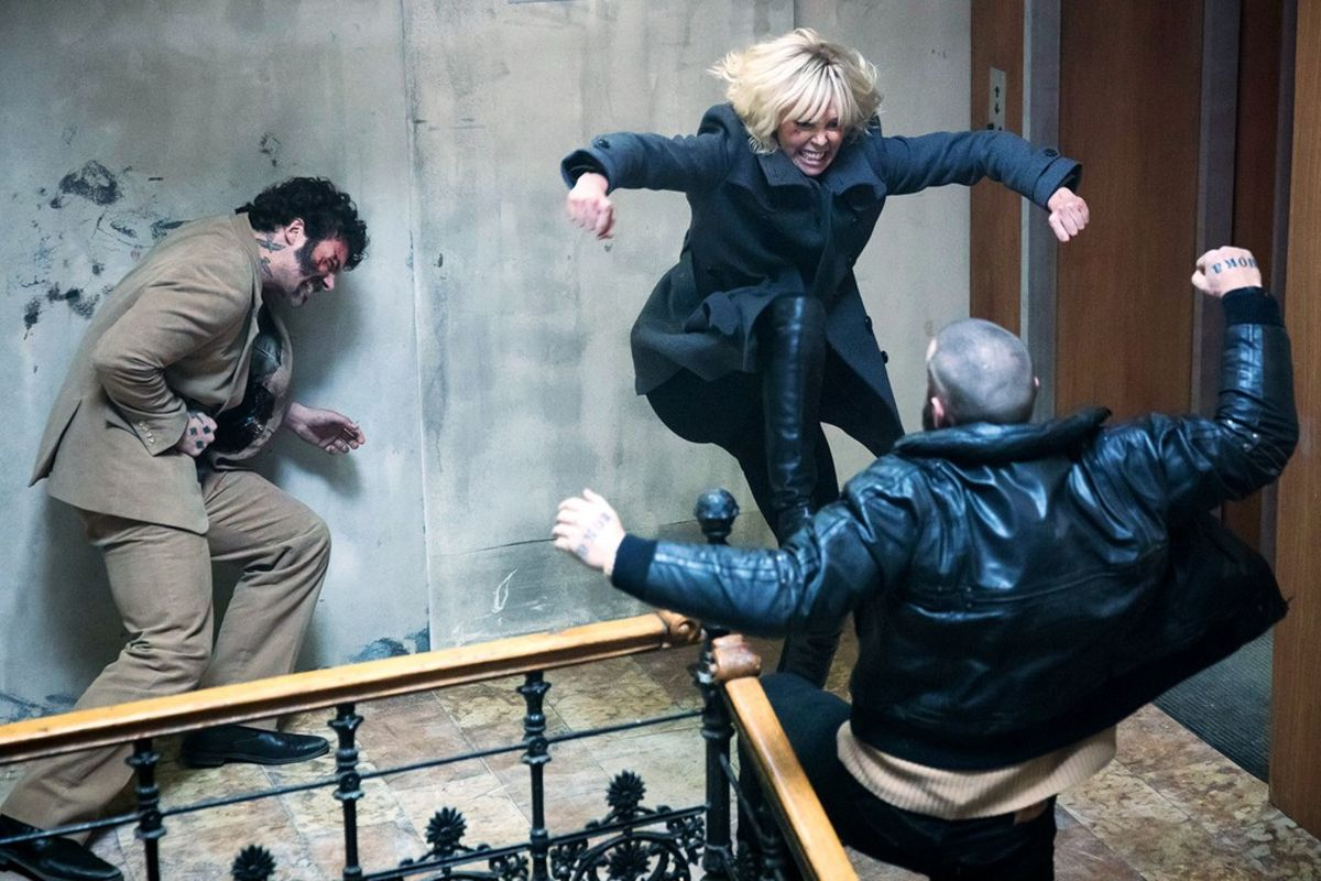 Stairwell Fight, Atomic Blonde (2017)