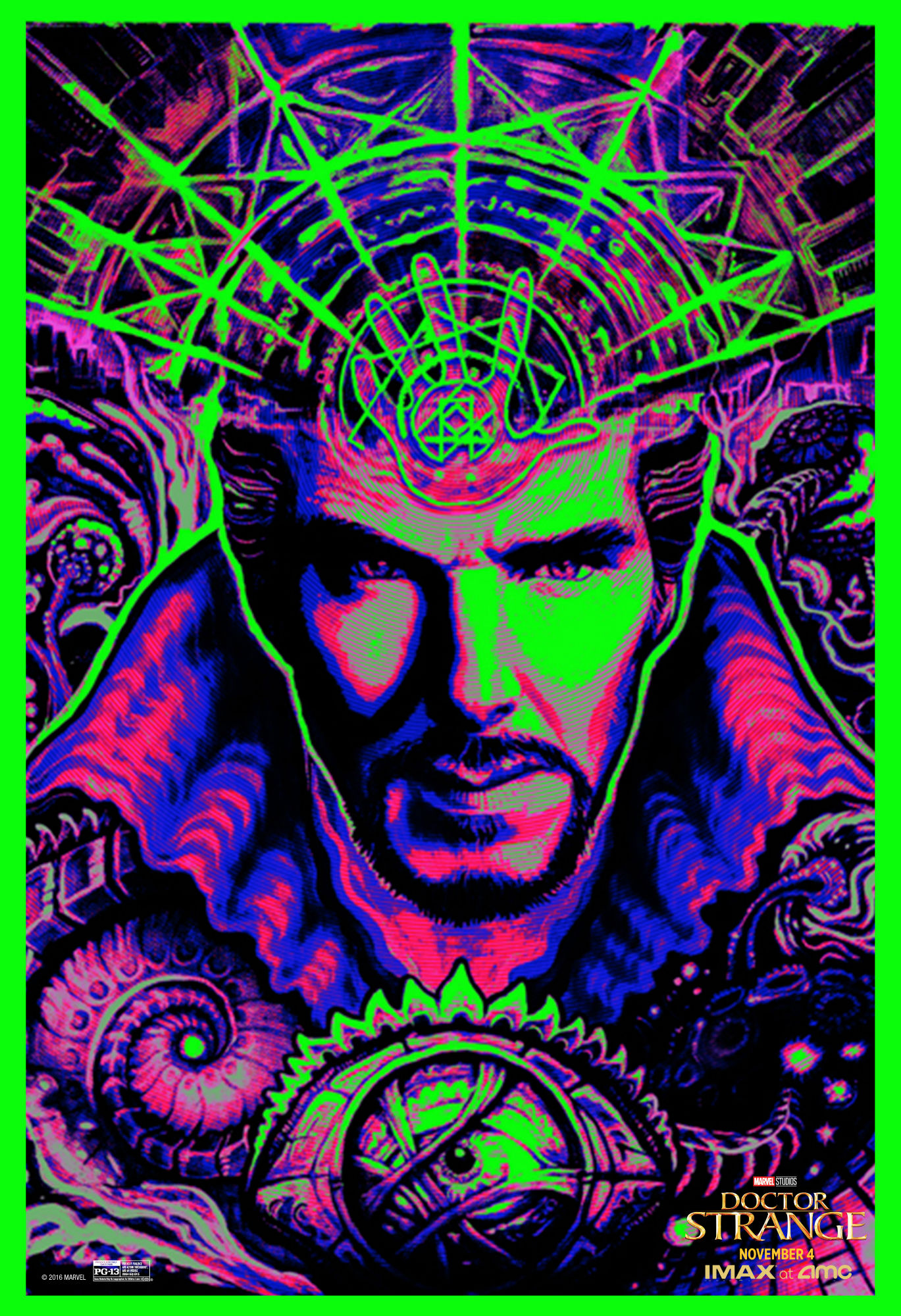 Doctor Strange black light poster