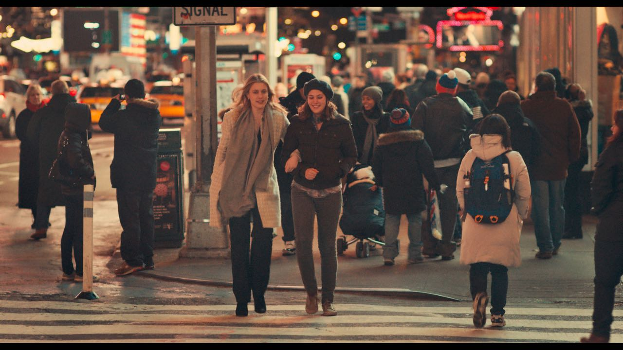 """Greta Gerwig as """"Brooke"""" and Lola Kirke as """"Tracy"""" in MISTRESS AMERICA. Photo courtesy of Fox Searchlight Pictures © 2015 Twentieth Century Fox Film Corporation All Rights Reserved"""