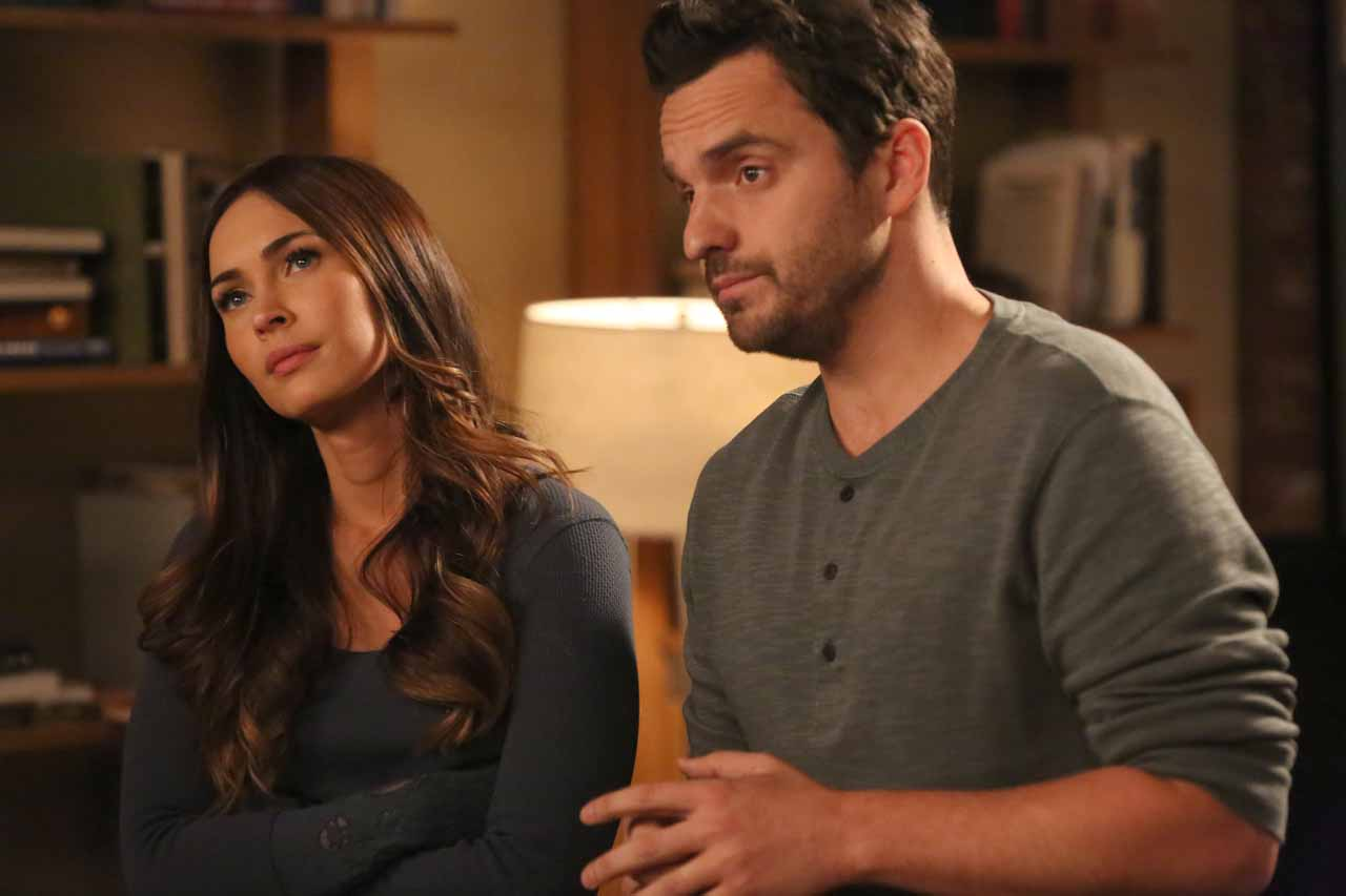 "NEW GIRL: L-R: Guest star Megan Fox and Jake Johnson in the ""Wig"" episode of NEW GIRL airing Tuesday, Feb. 16 (8:00-8:30 PM ET/PT) on FOX. ©2016 Fox Broadcasting Co. Cr: Adam Taylor/FOX"