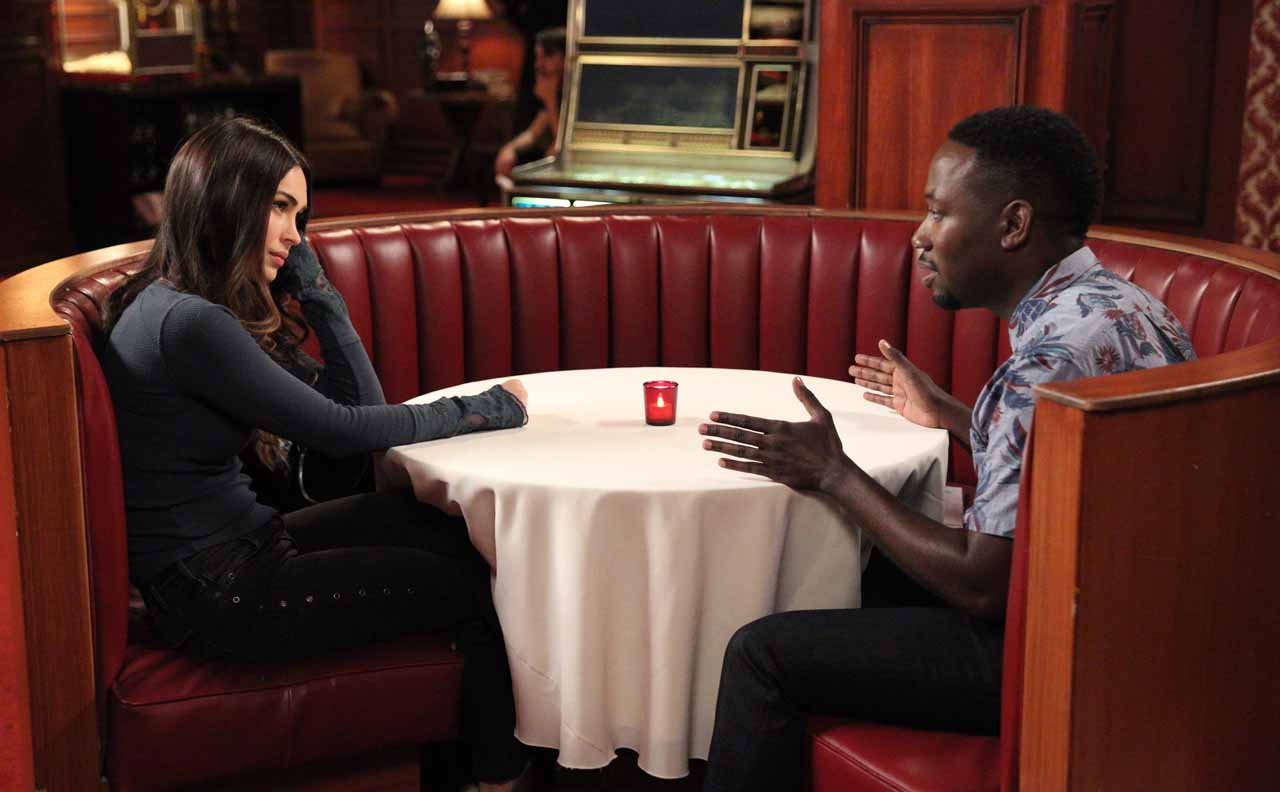 "NEW GIRL: L-R: Guest star Megan Fox and Lamorne Morris in the ""Wig"" episode of NEW GIRL airing Tuesday, Feb. 16 (8:00-8:30 PM ET/PT) on FOX. ©2016 Fox Broadcasting Co. Cr: Adam Taylor/FOX"