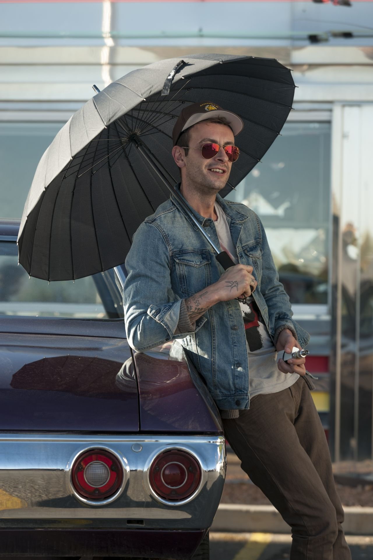 BTS, Joseph Gilgun as Cassidy - Preacher _ Season 1, Episode 9 - Photo Credit: Lewis Jacobs/Sony Pictures Television/AMC