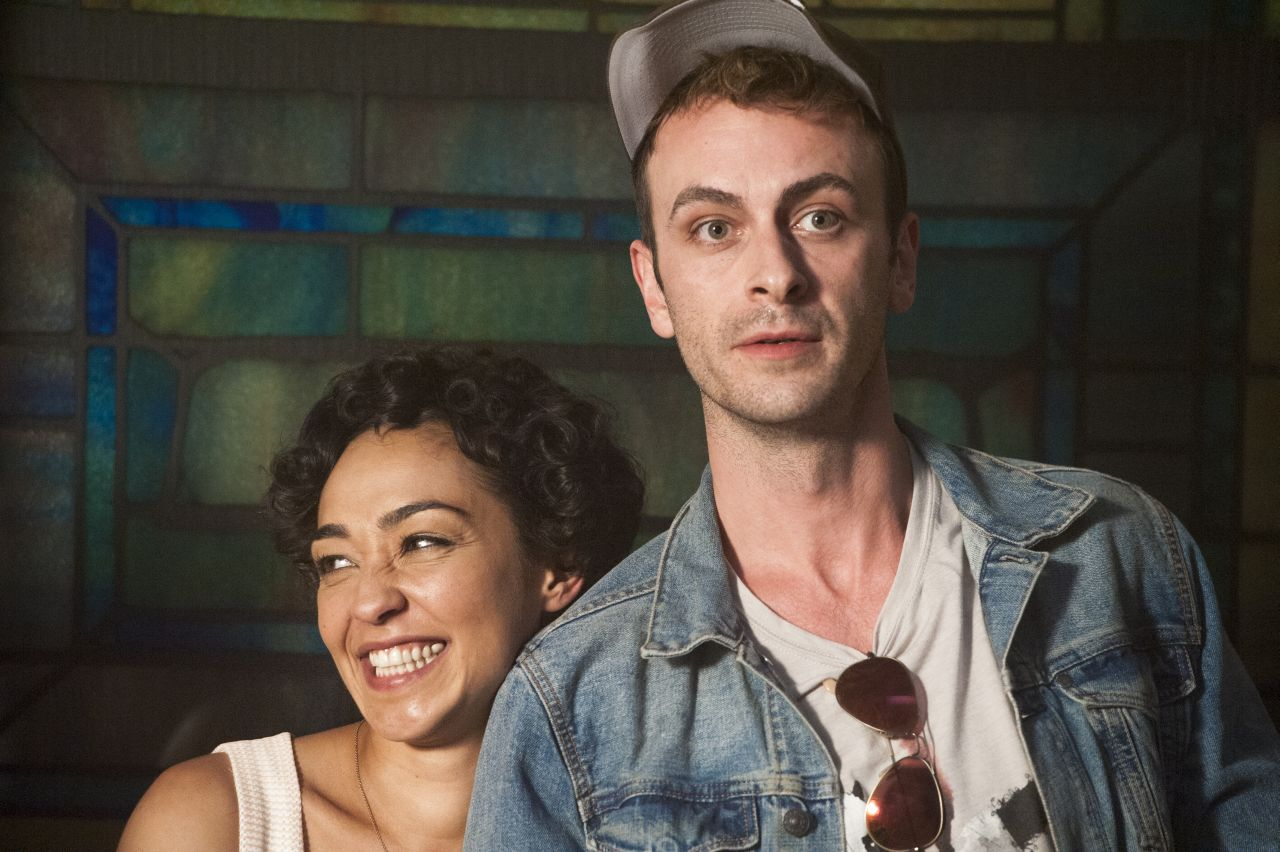 BTS, Ruth Negga as Tulip O'Hare, Joseph Gilgun as Cassidy - Preacher _ Season 1, Episode 9 - Photo Credit: Lewis Jacobs/Sony Pictures Television/AMC