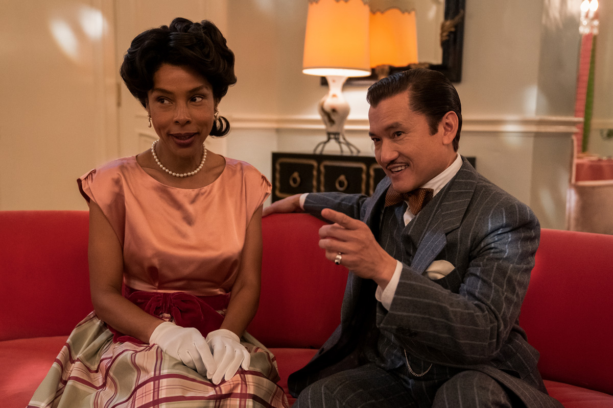 RATCHED (L to R) SOPHIE OKONEDO as CHARLOTTE WELLS and JON JON BRIONES as DR. RICHARD HANOVER in episode 105 of RATCHED Cr. SAEED ADYANI/NETFLIX © 2020