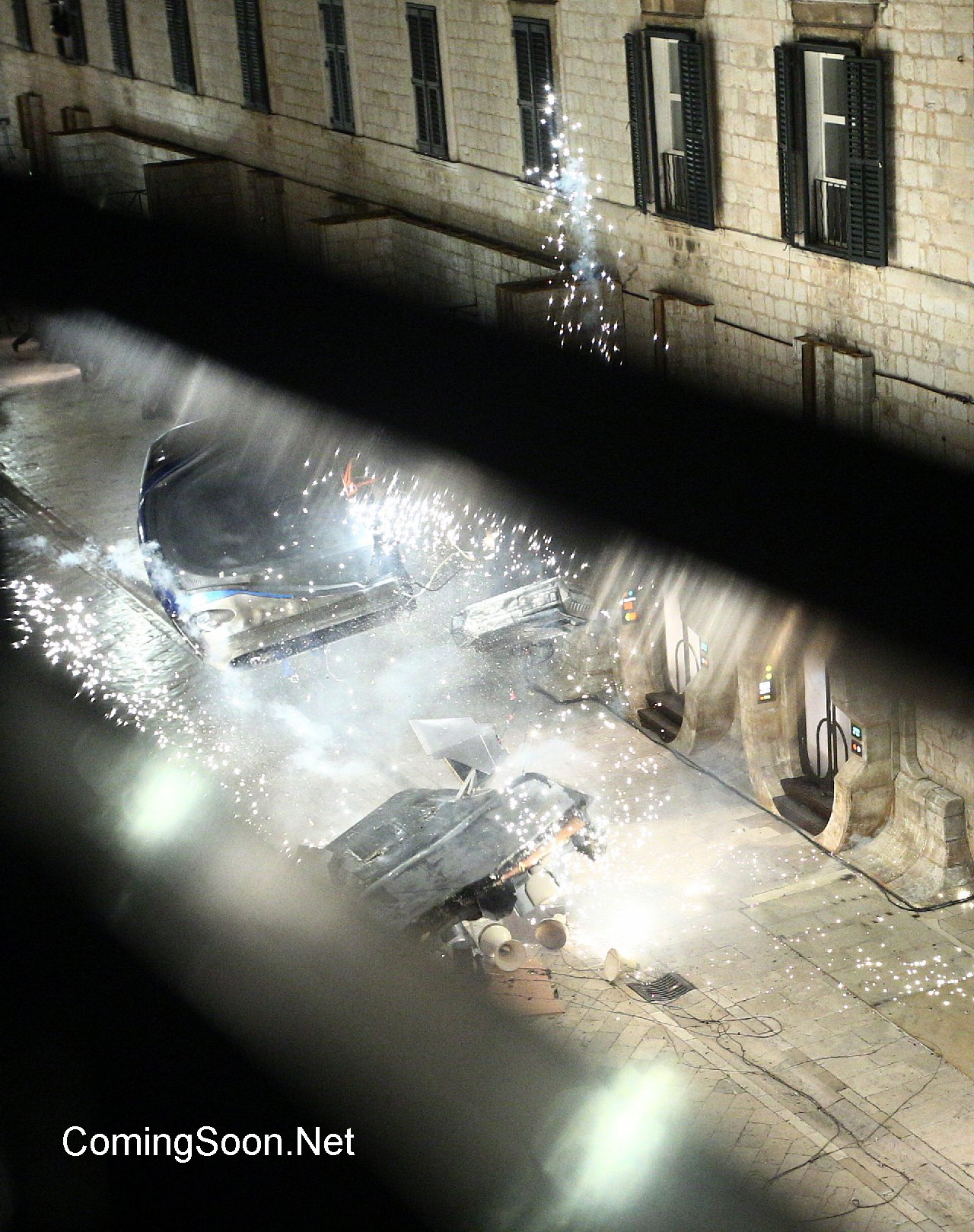 Star Wars: Episode VIII Sete set of 'Star Wars: Episode VIII on Stradun, the main street of Dubrovnik. During one scene, costumed cast members gather on the street while a landspeeder is made to explode causing them to flee.Featuring: AtmosphereWhere: Dubrovnik, CroatiaWhen: 13 Mar 2016Credit: WENN.com**Only available for publication in UK, USA, Germany, Austria, Switzerland. Not available for subscribers.**