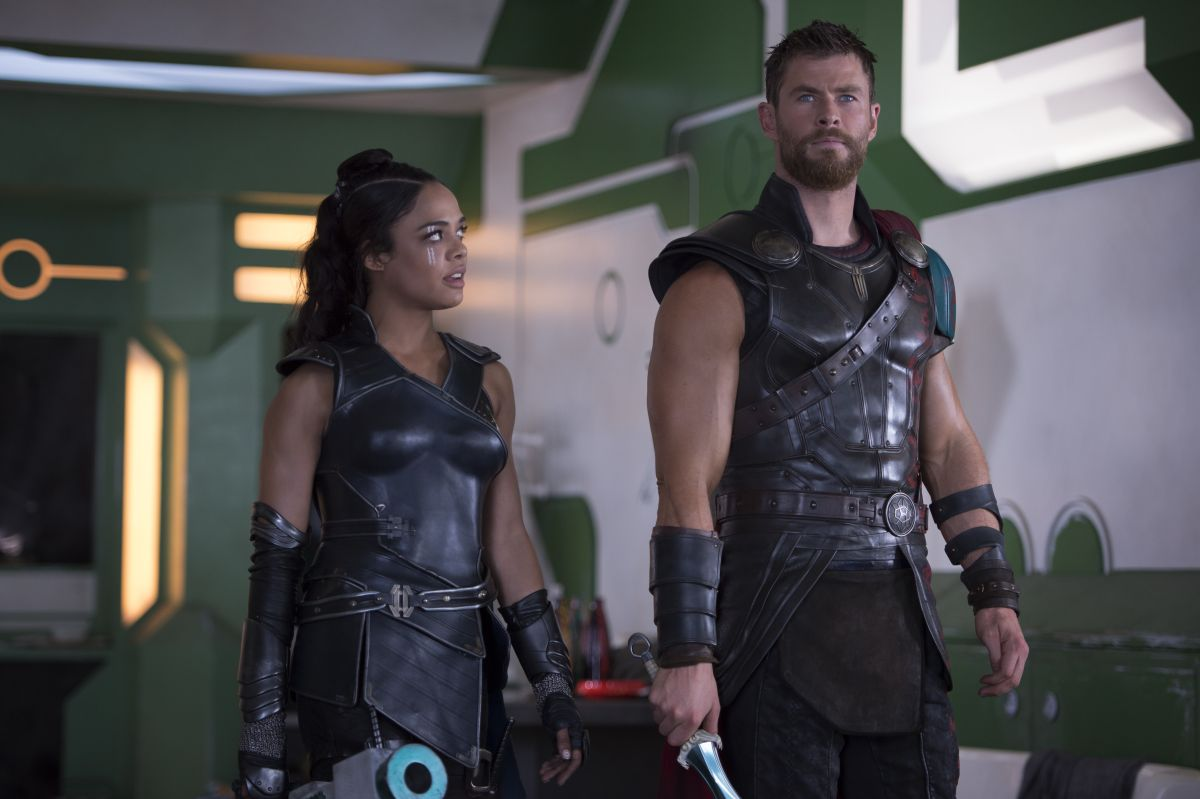 Thor: RagnarokL to R: Valkyrie (Tessa Thompson) and Thor (Chris Hemsworth)Photo: Jasin Boland©Marvel Studios 2017